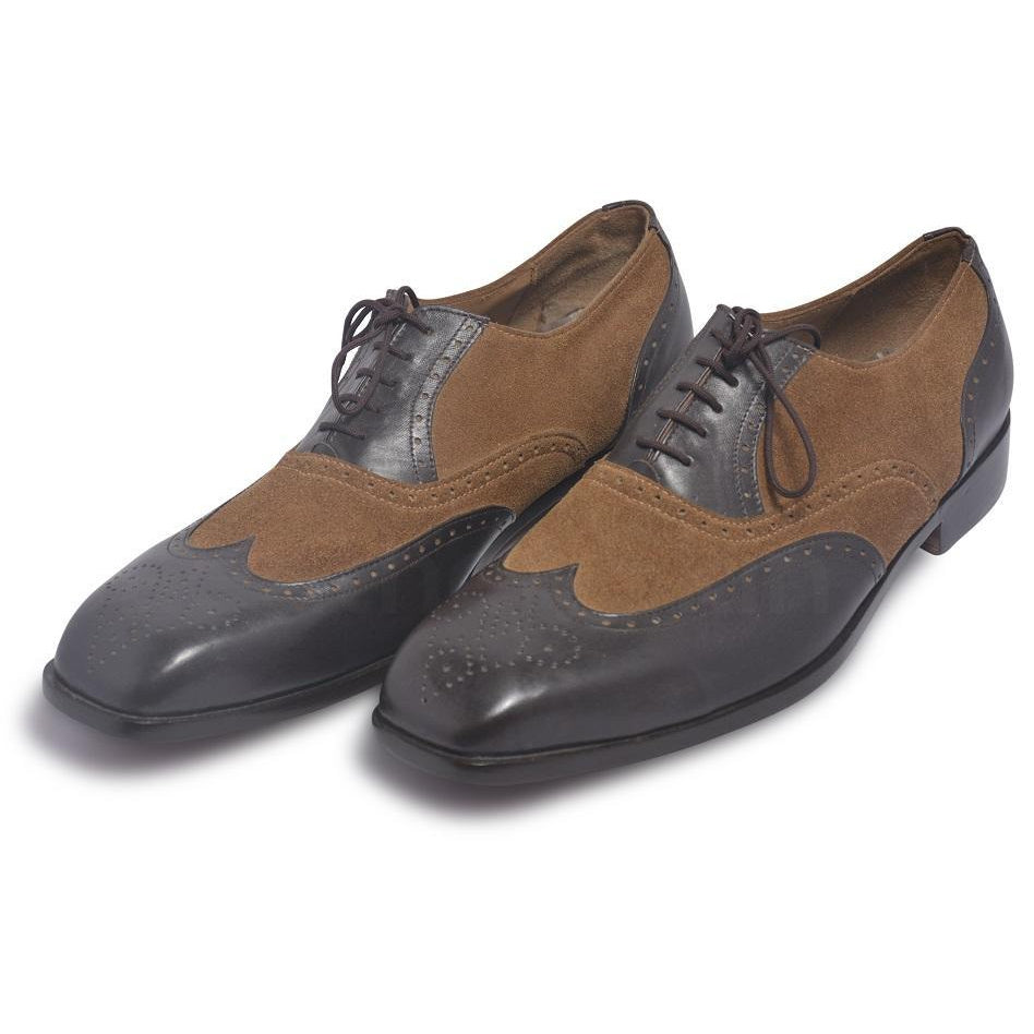oxford two tone leather shoes