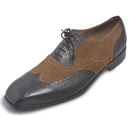 genuine leather and suede leather shoes