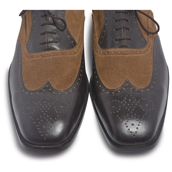 Wingtip Brogue Two Tone Leather Shoes