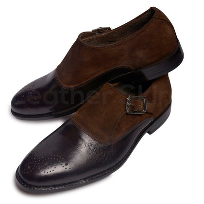 Brogue Monk Leather Shoes