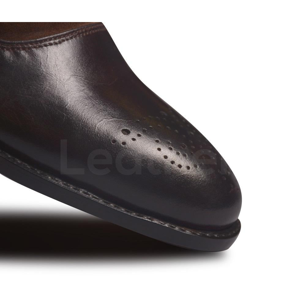 Brogue Toe Leather Shoes