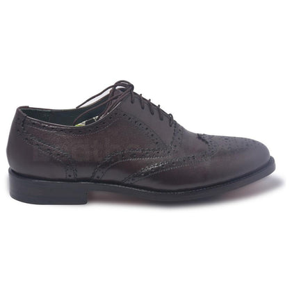 brogue brown leather shoes