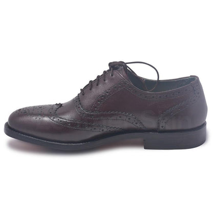 men brogue brown leather shoes