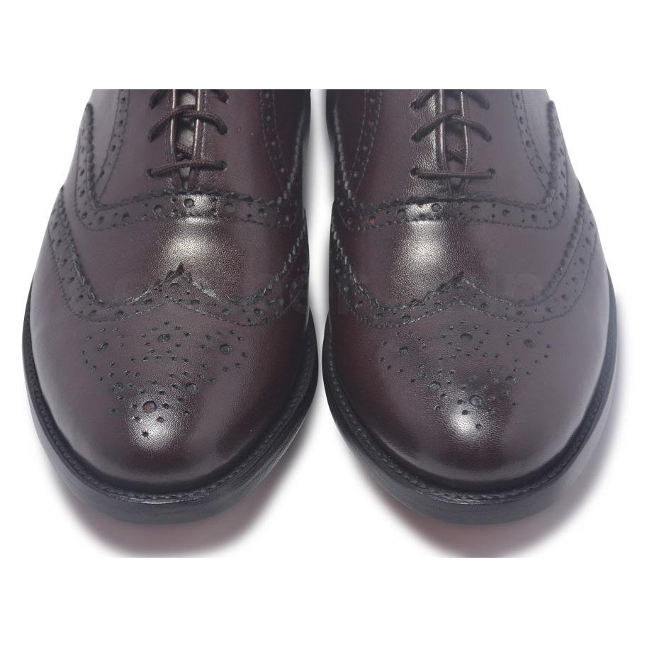 brogue wingtip leather shoes