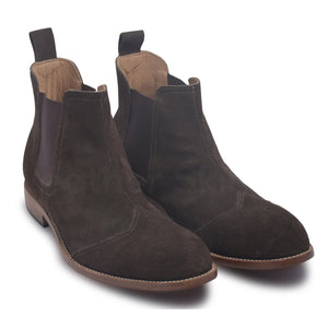 Men Brown Chelsea Ankle Pull On Boots