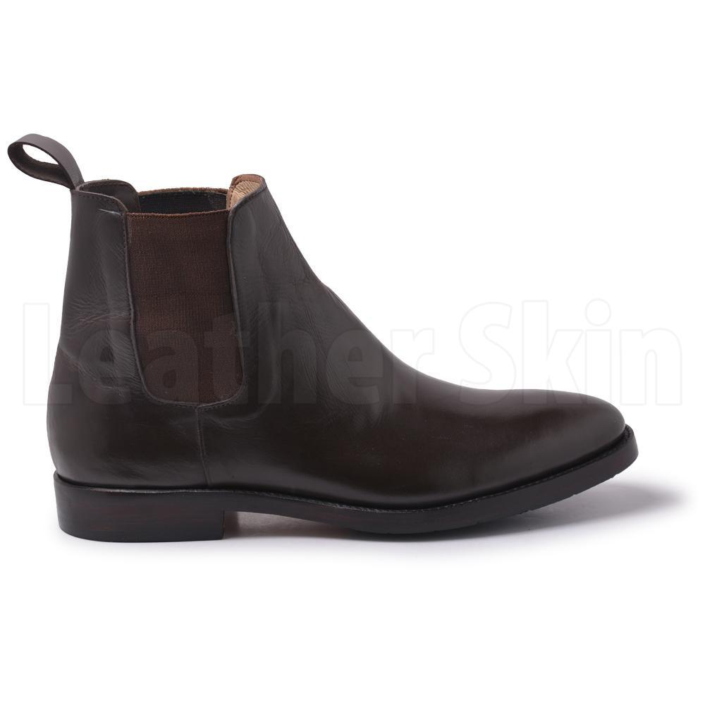Men Brown Chelsea Genuine Leather Boots brown