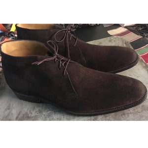 Men Brown Chukka Suede Leather Boots