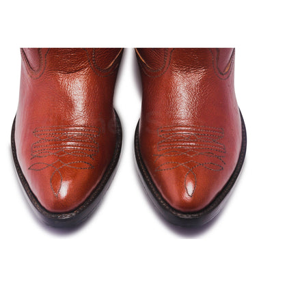 toe of cowboy genuine leather boots