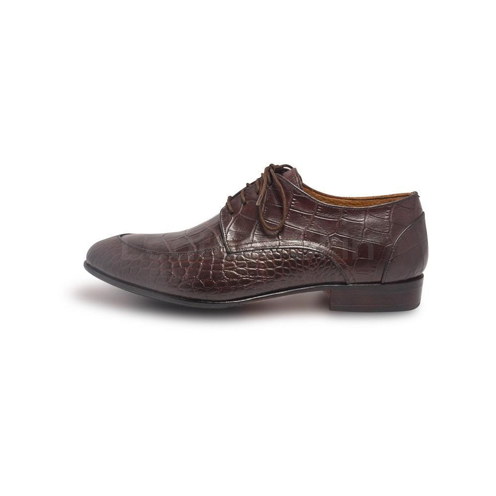 Men Crocodile Shoes in Brown Color