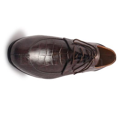 Brown Crocodile Shoes for Men