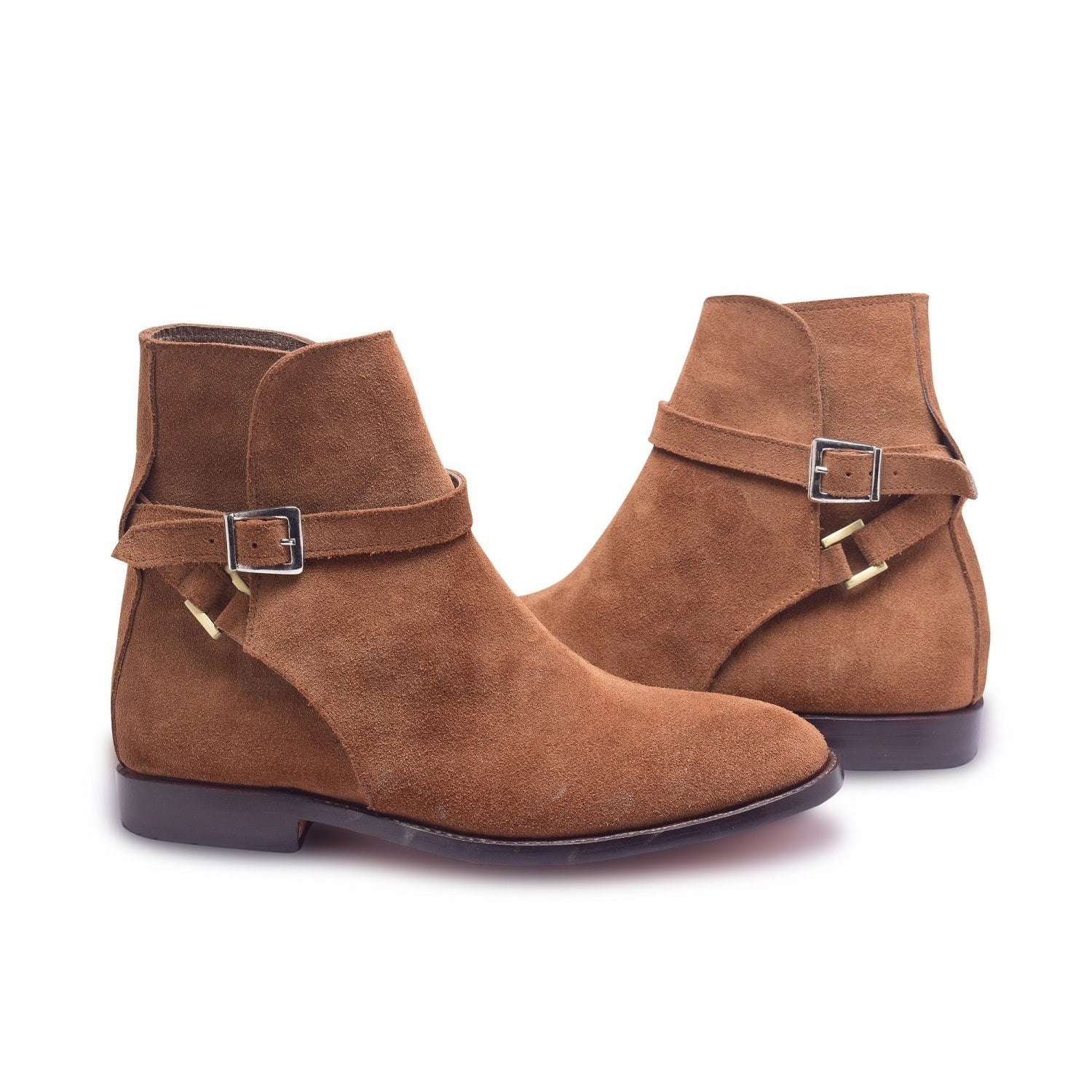 e1d6763b5121 Men Brown Jodhpurs Ankle Handmade Suede Leather Boots – Leather Skin ...