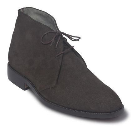brown suede leather boots for men