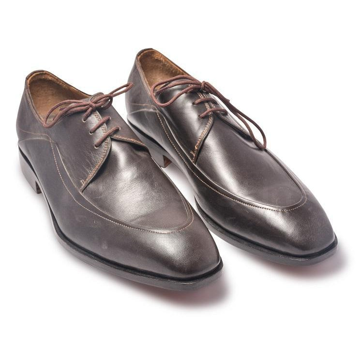 Men Brown Laces Genuine Leather Derby Shoes