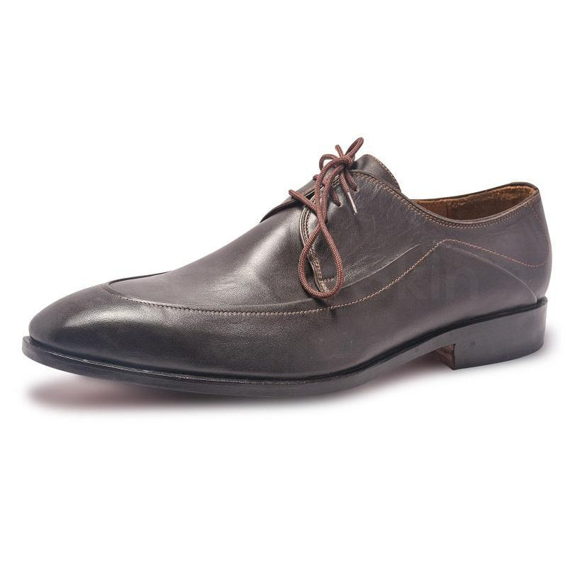 Derby Leather Shoes with Laces