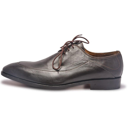 Men Brown Derby Leather Shoes