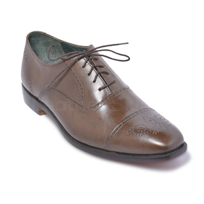brown oxford genuine leather shoes mens