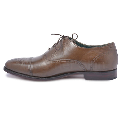 side of oxford genuine leather shoes for men