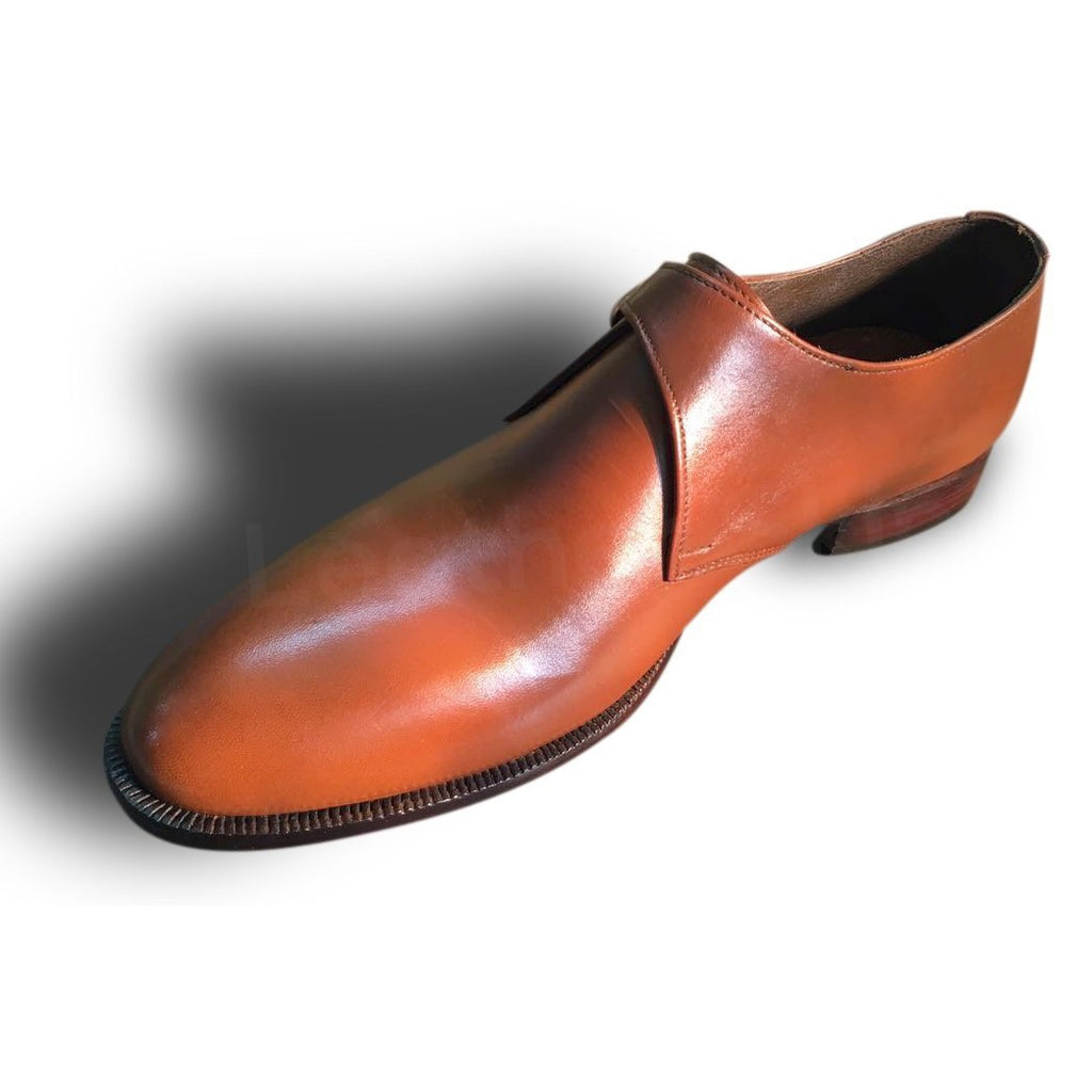 Single Brown Monk Leather Shoes