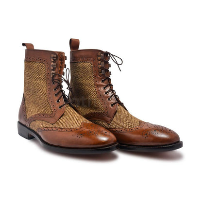 Men Derby leather Boots