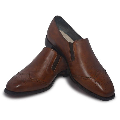 Men Brown Genuine Leather Shoes