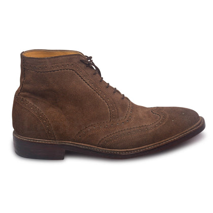 brown mens brogue boots
