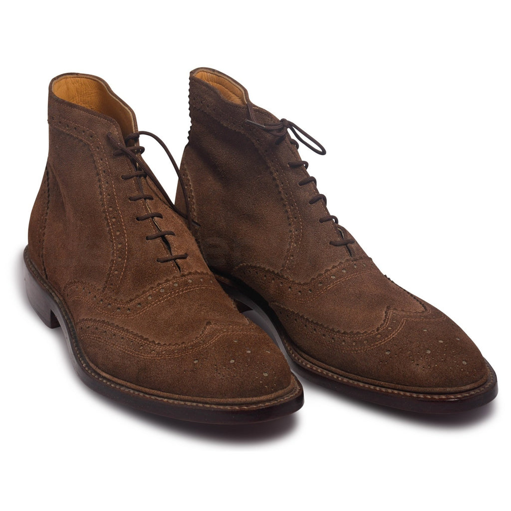 mens brown boots brogue wingtip