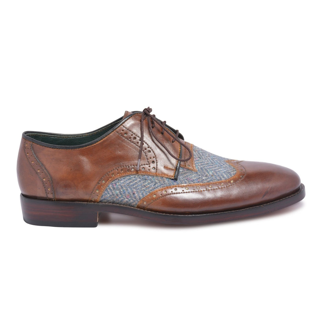 brown leather shoes derby mens