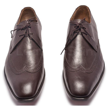 Brown Derby Leather Shoes