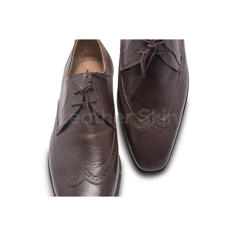 Wingtip Brogue Derby Leather Shoes