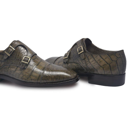Alligator Monk Strap Shoes