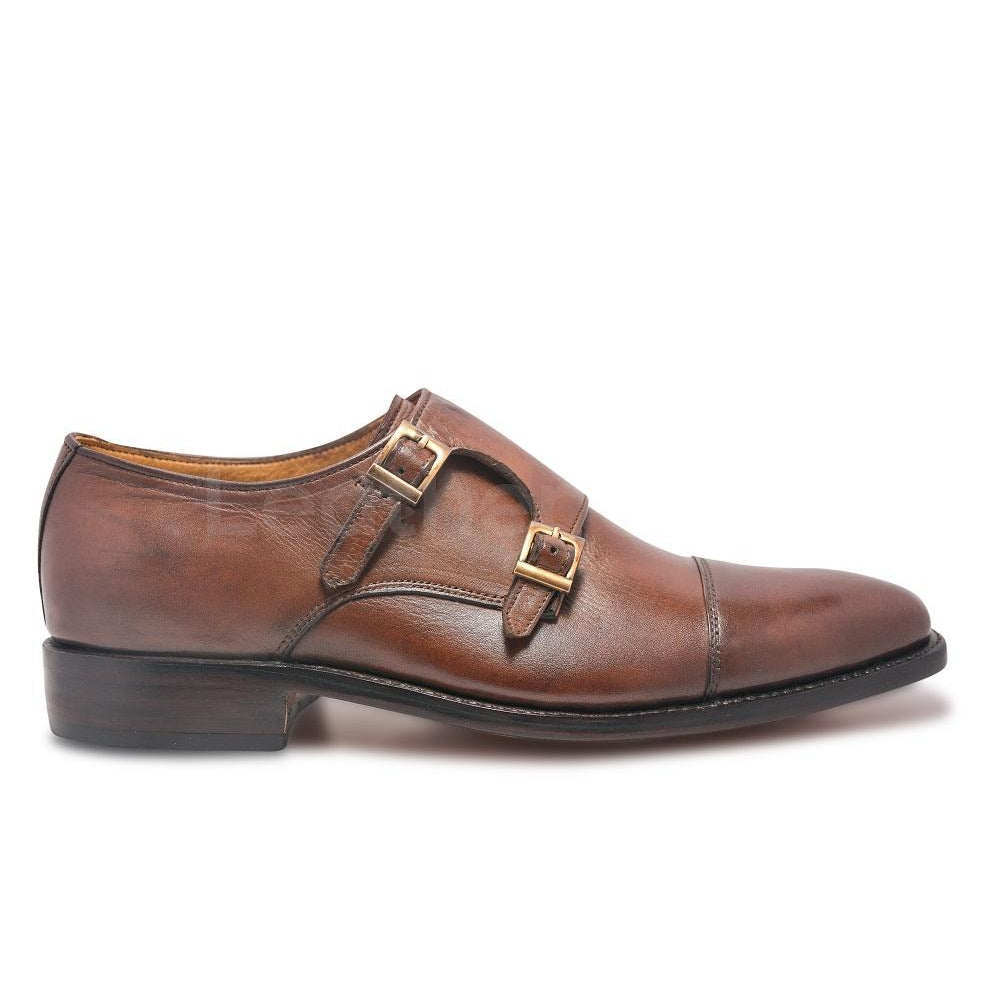 Double Monk Leather Shoes