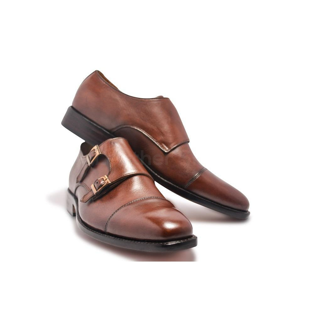 Dual Monk Leather Shoes for Men