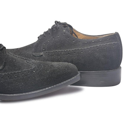 derby shoes for men in suede leather