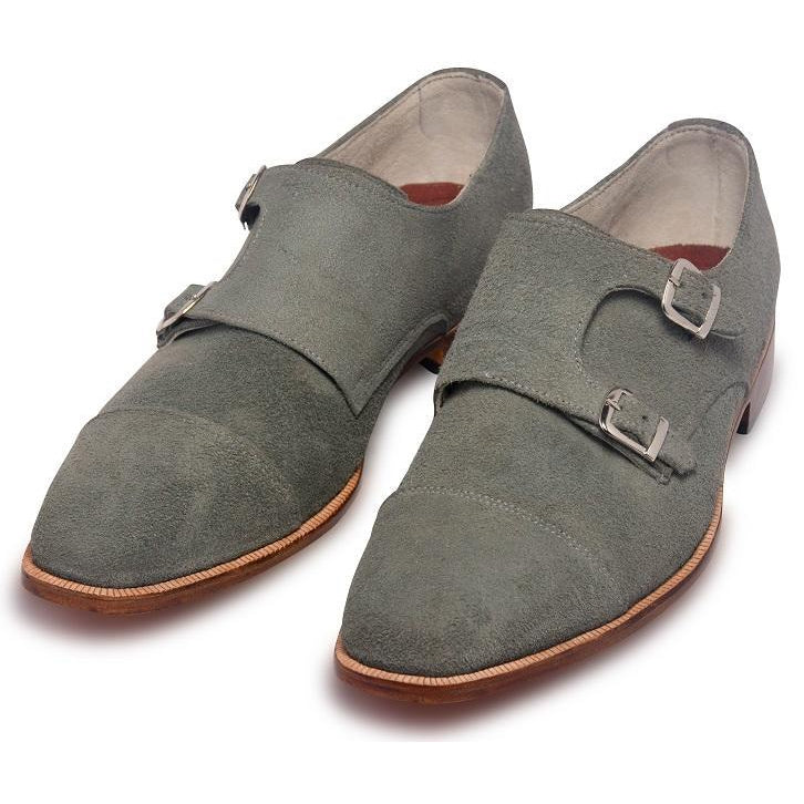 double Monk Suede leather shoes