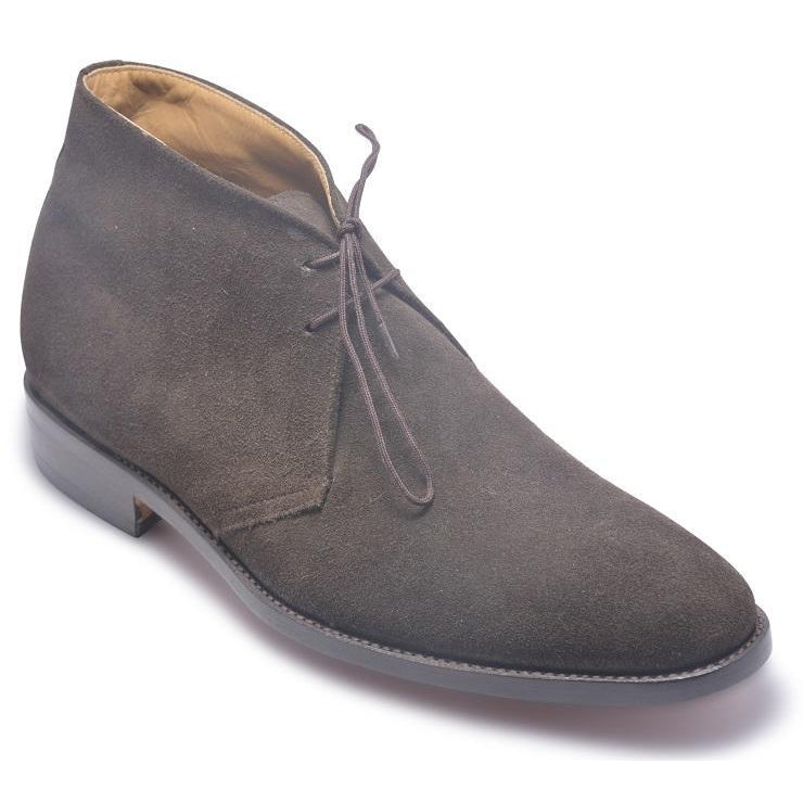 Men Gray Grey Lace Up Suede Chukka Leather Boots