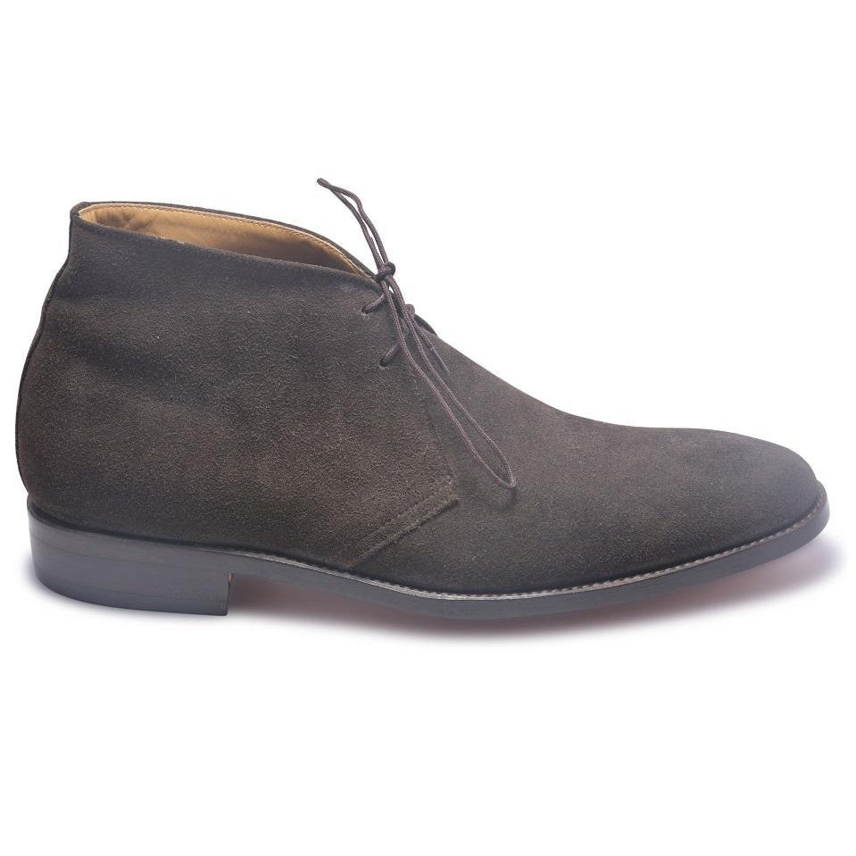 men gray suede boots