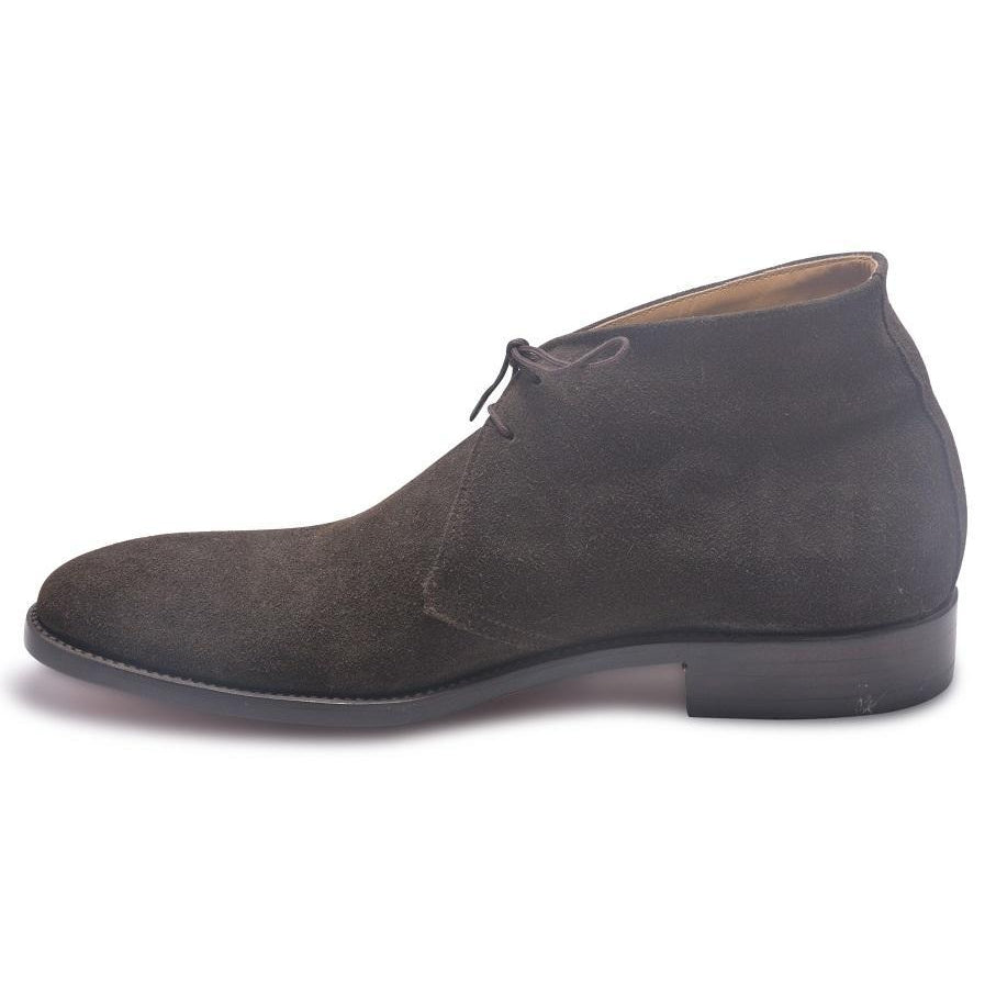 gray suede boots for men