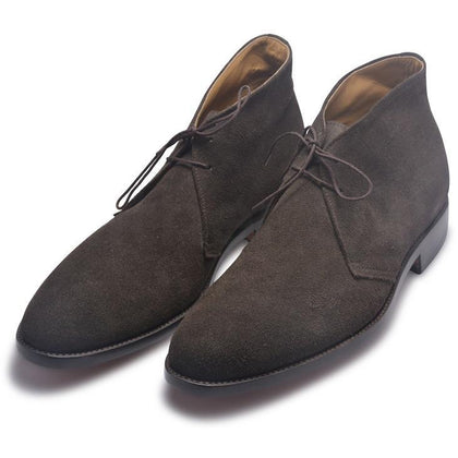 chukka gray suede shoes