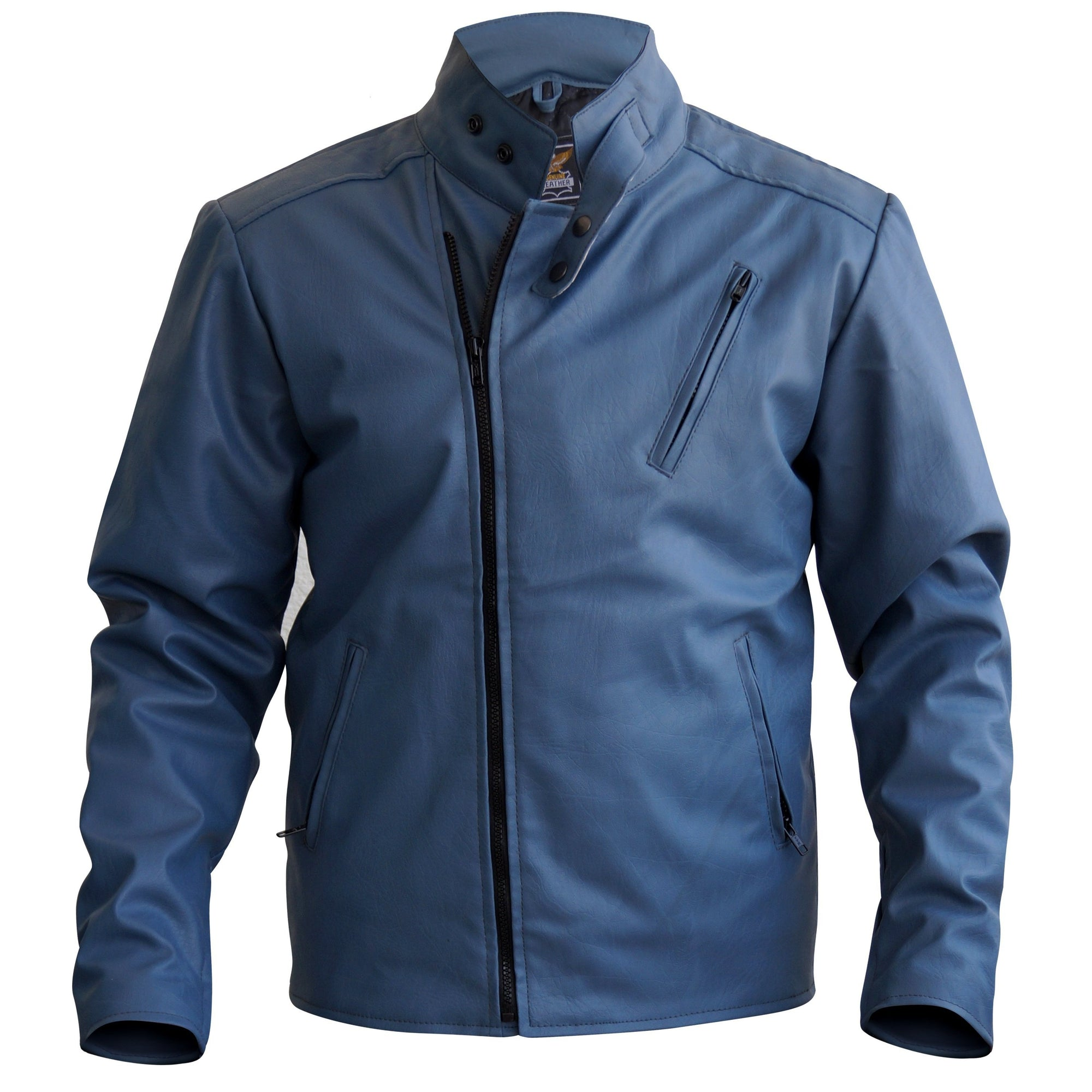 Stylish Gray Men Stylish Synthetic Leather Jacket