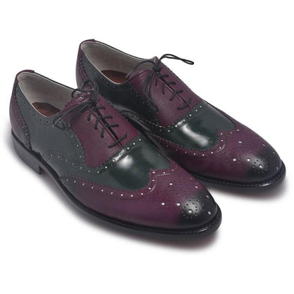 Purple Leather Shoes for Men