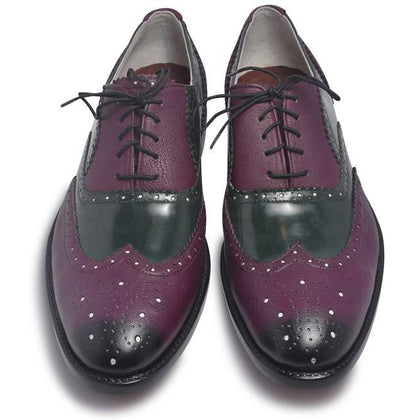Oxford Purple Leather Shoes