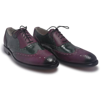 Two Tone Shoes in Purple Color