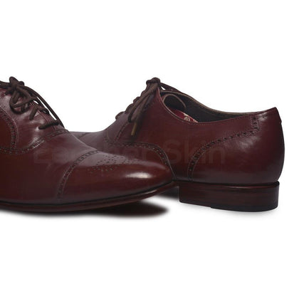 Men Red Leather Shoes