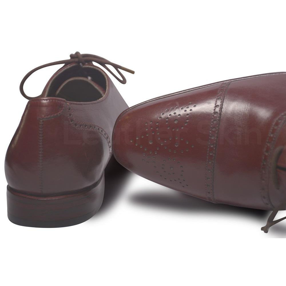 Oxford Red Leather Shoes