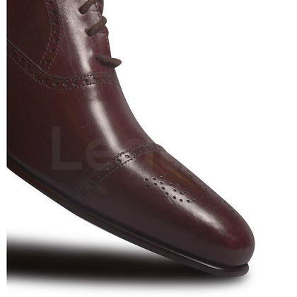 Beautiful Brogue Toe for Red Leather Shoe