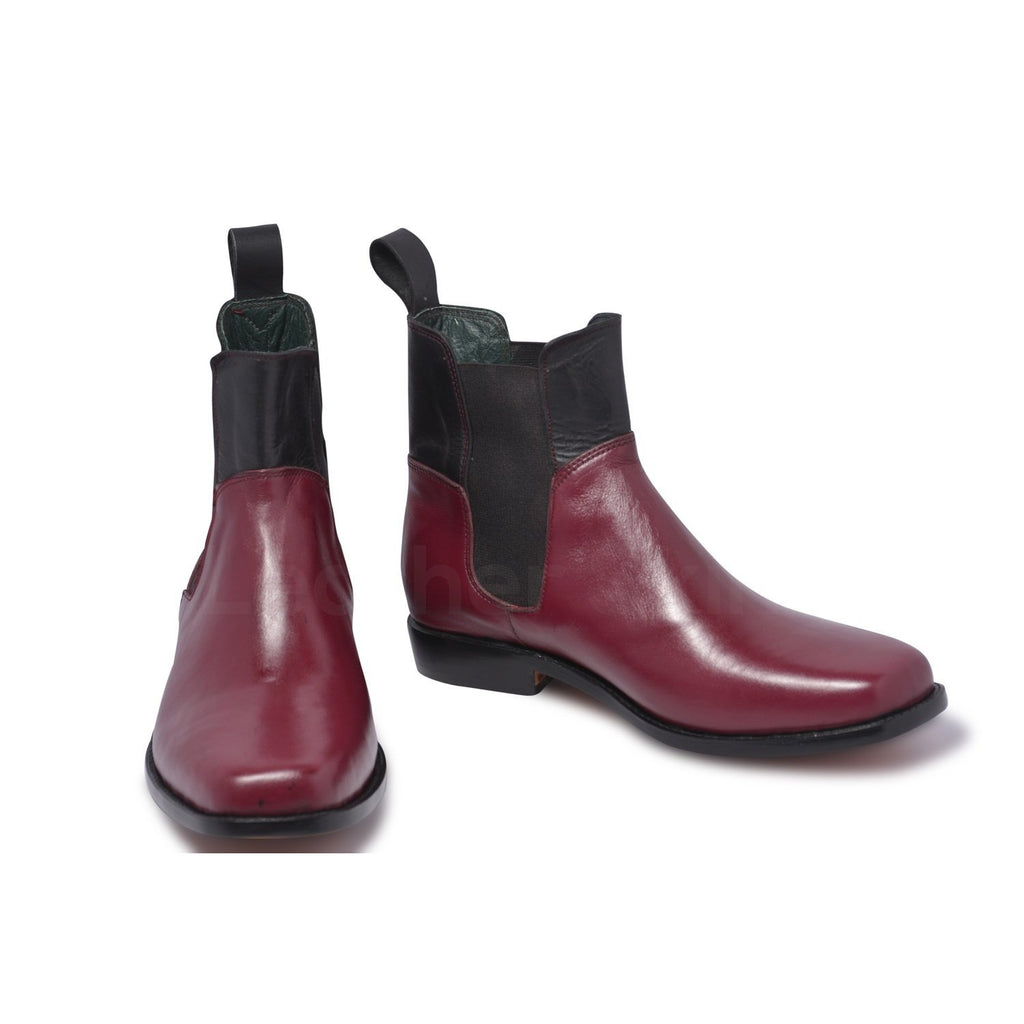 red Chelsea shoes for men