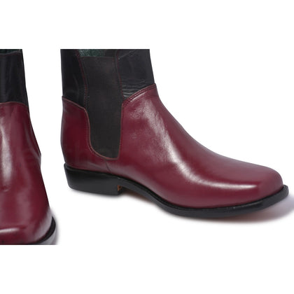 Chelsea boots for men in maroon color