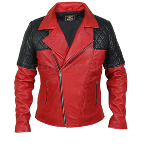 red leather jacket mens