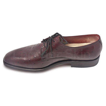 Maroon Leather Shoes for Men