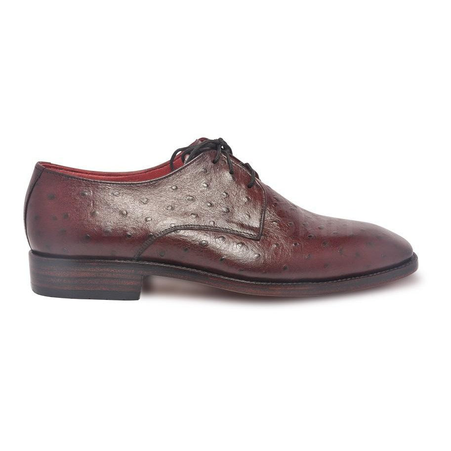 Red Maroon Ostrich Leather Shoes